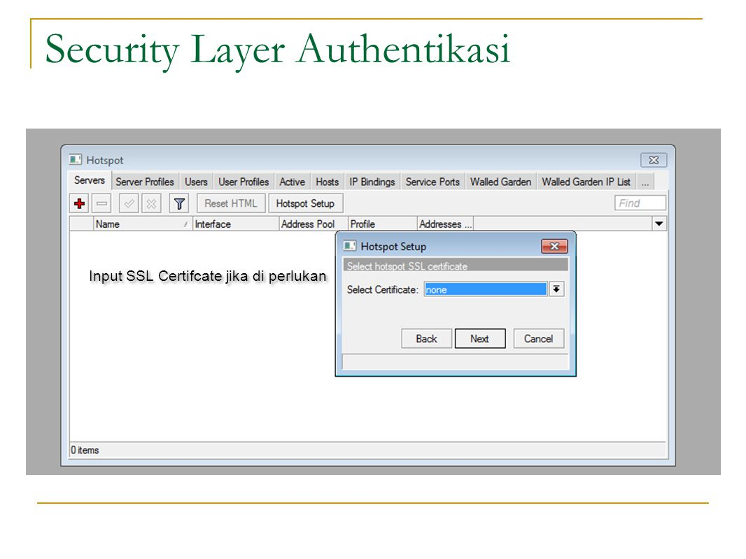 Security Layer Authentikasi