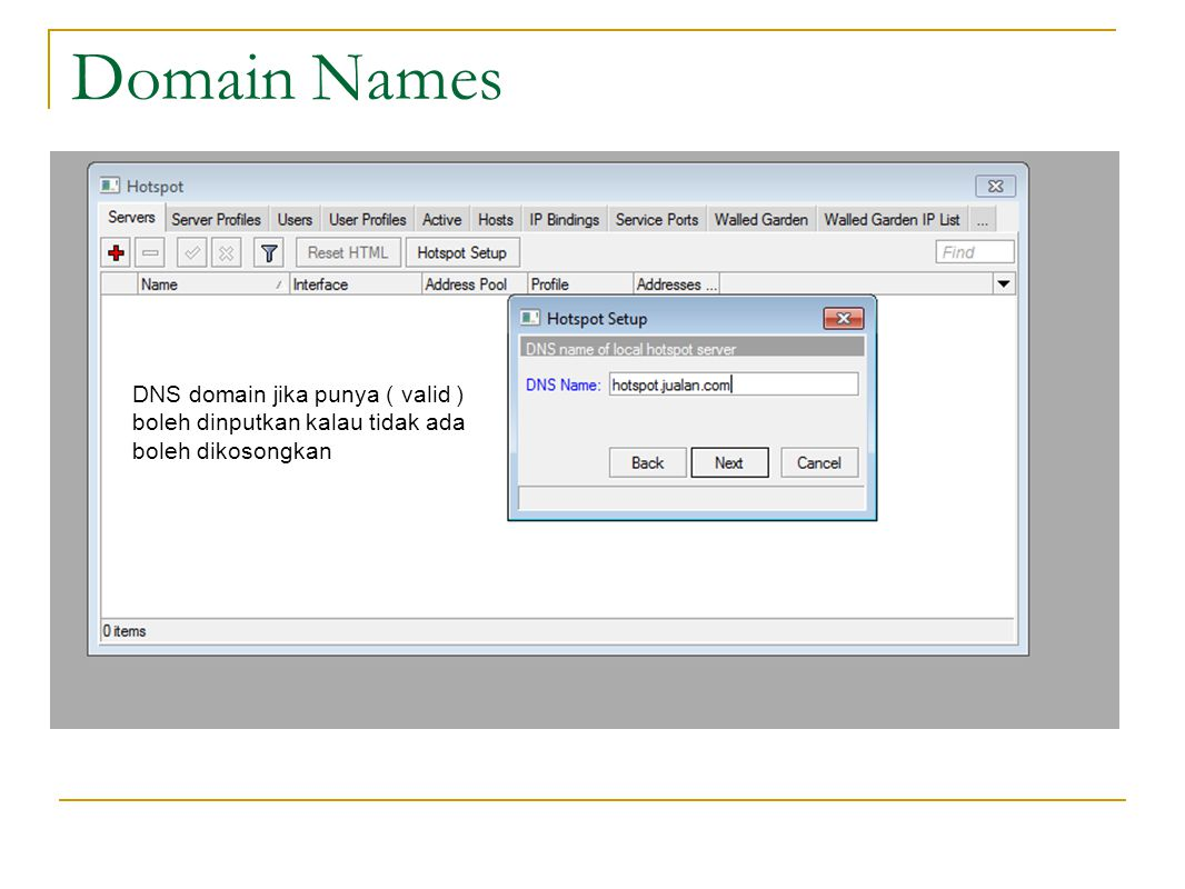 Domain Names DNS domain jika punya ( valid )