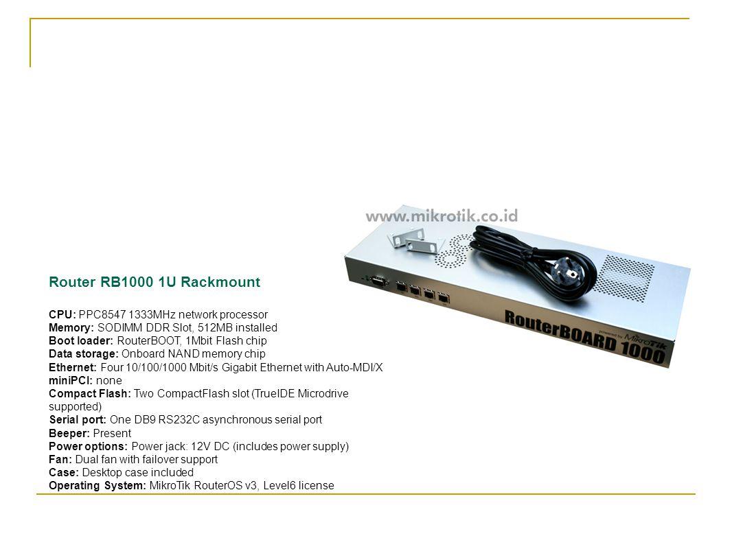Router RB1000 1U Rackmount