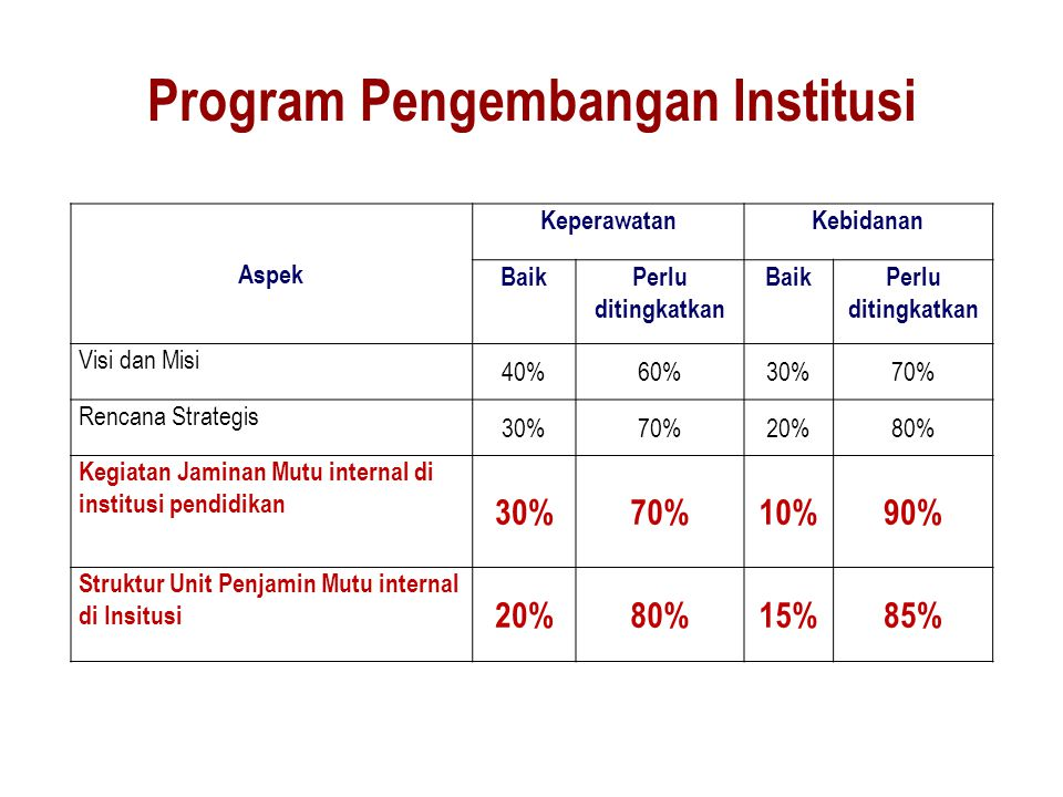 Program Pengembangan Institusi