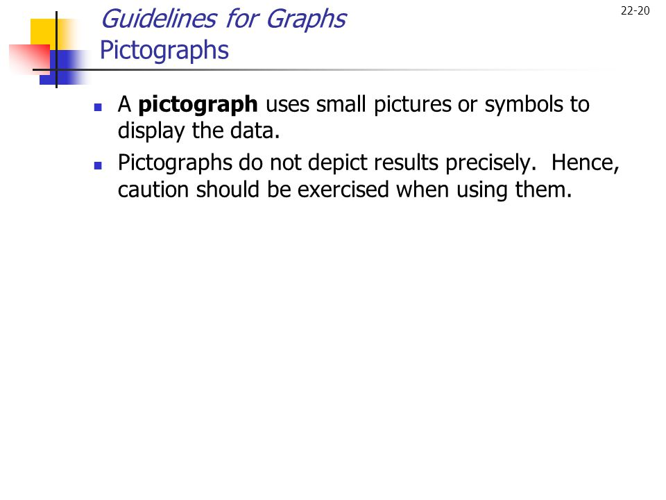 Guidelines for Graphs Pictographs