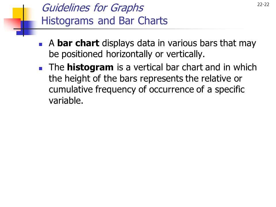 Guidelines for Graphs Histograms and Bar Charts