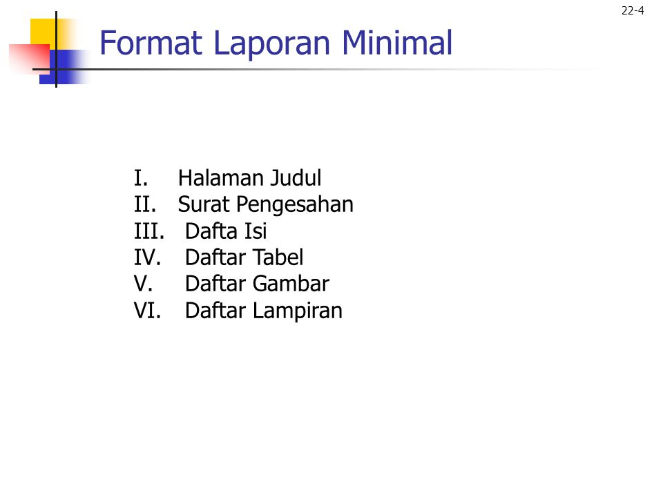 Format Laporan Minimal