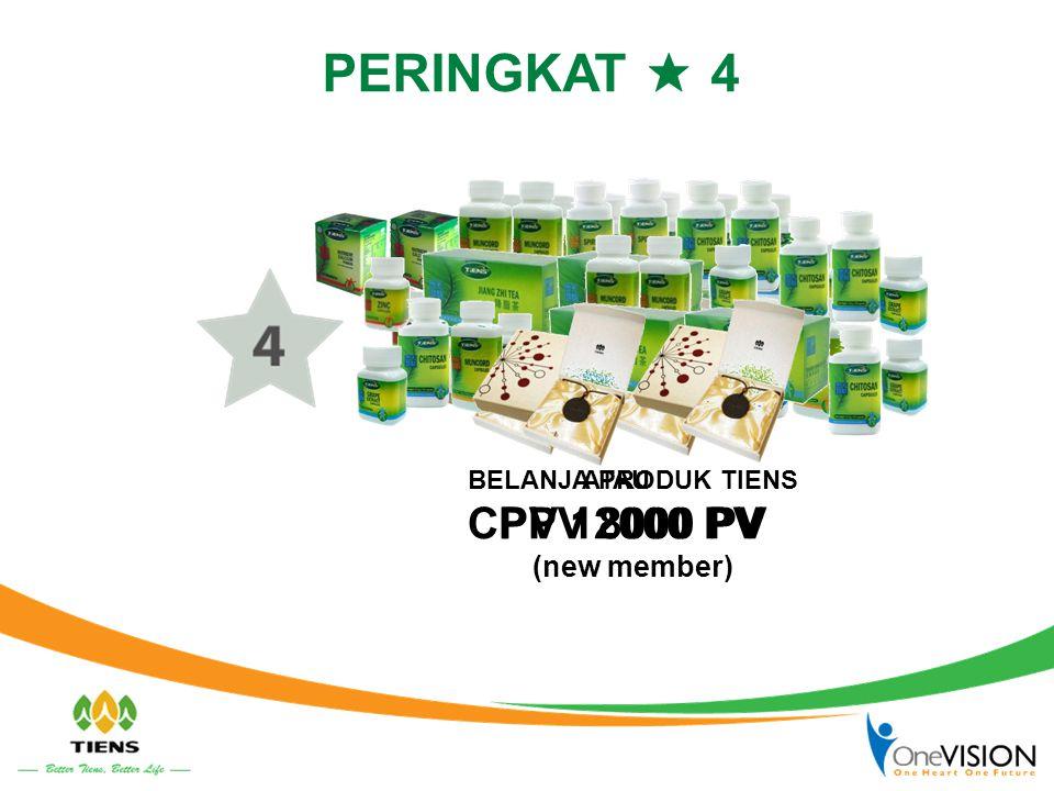 PERINGKAT ★ 4 CPV 12000 PV PPV 8000 PV (new member) ATAU