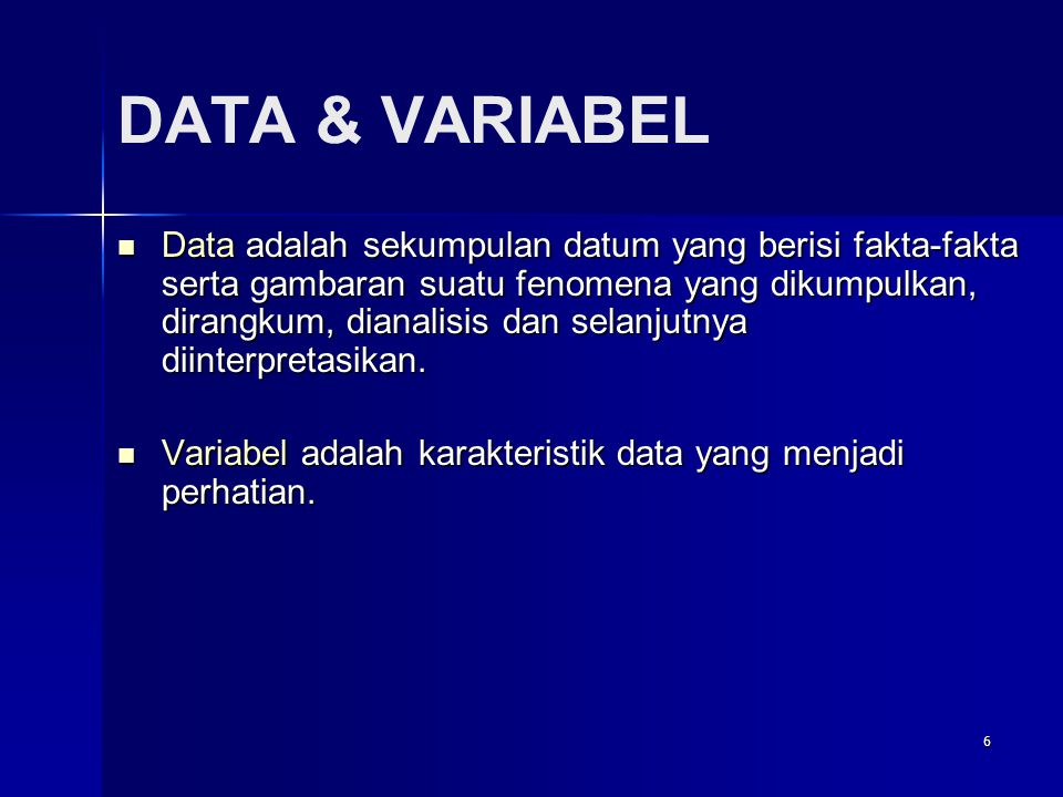 DATA & VARIABEL
