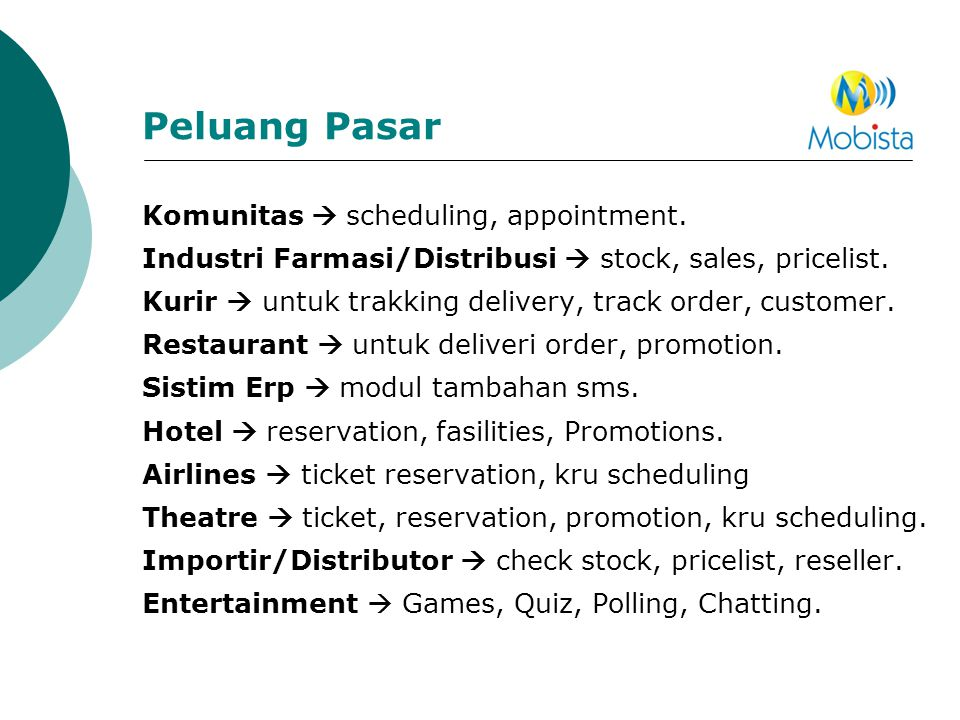 Peluang Pasar Komunitas  scheduling, appointment.