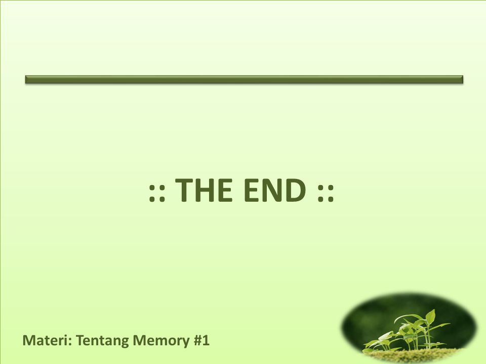 :: THE END ::