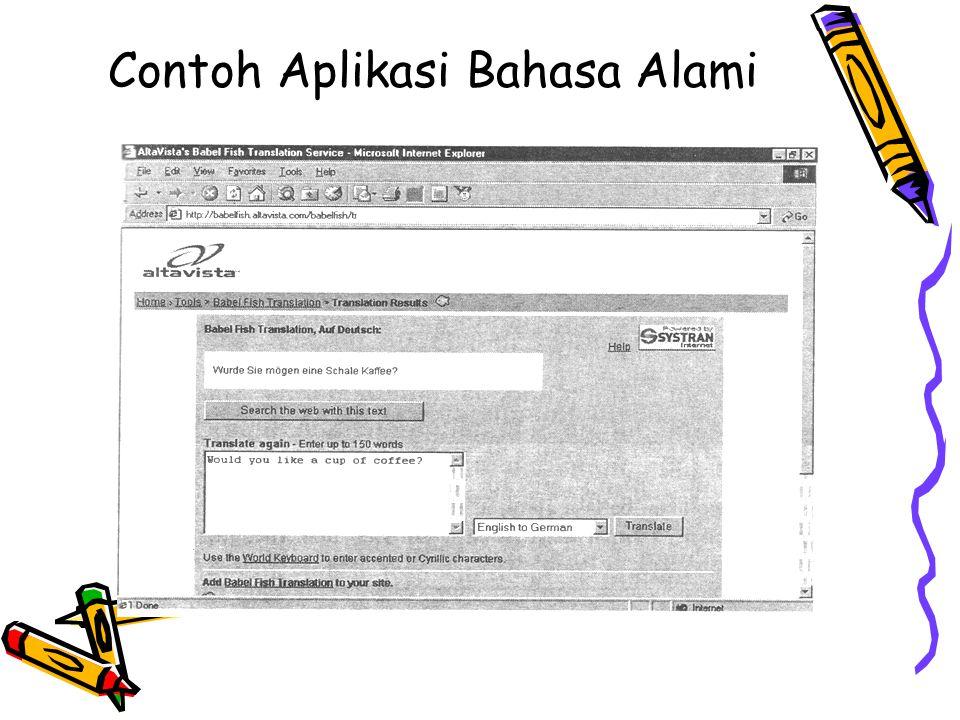 Contoh Aplikasi Bahasa Alami