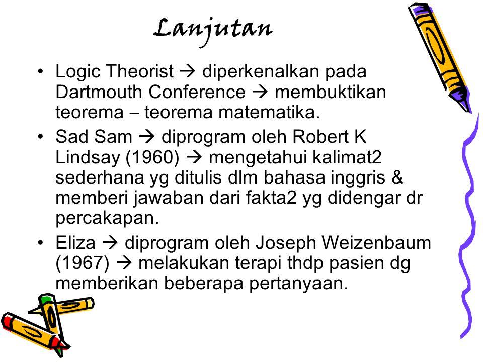 Lanjutan Logic Theorist  diperkenalkan pada Dartmouth Conference  membuktikan teorema – teorema matematika.