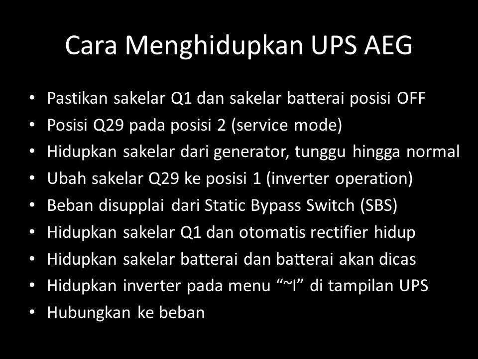 Cara Menghidupkan UPS AEG