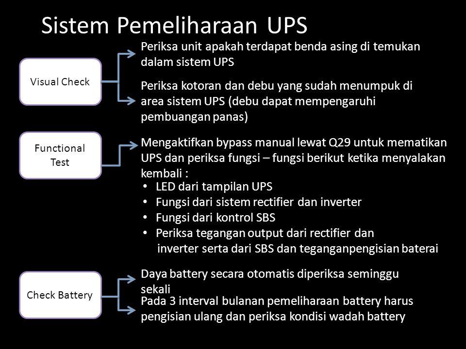 Sistem Pemeliharaan UPS