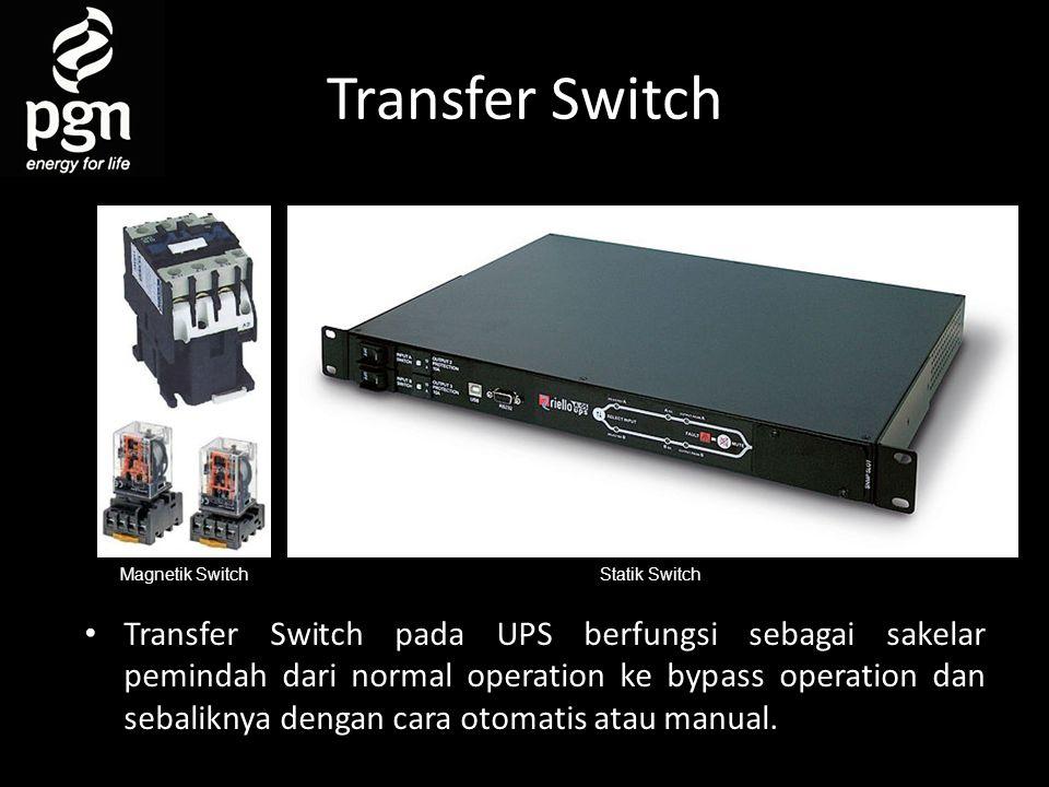 Transfer Switch Magnetik Switch. Statik Switch.