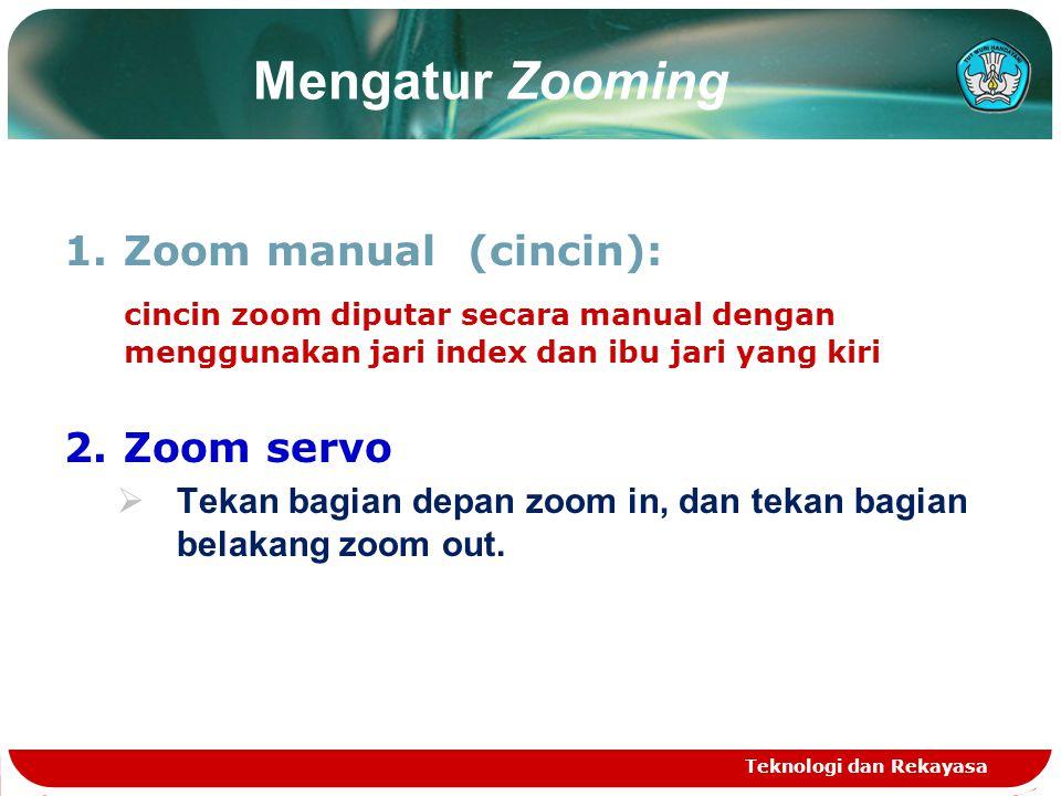 Mengatur Zooming Zoom manual (cincin):