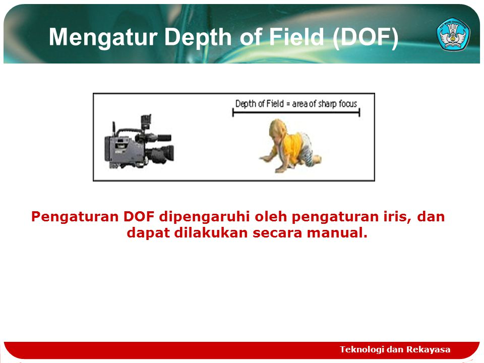 Mengatur Depth of Field (DOF)