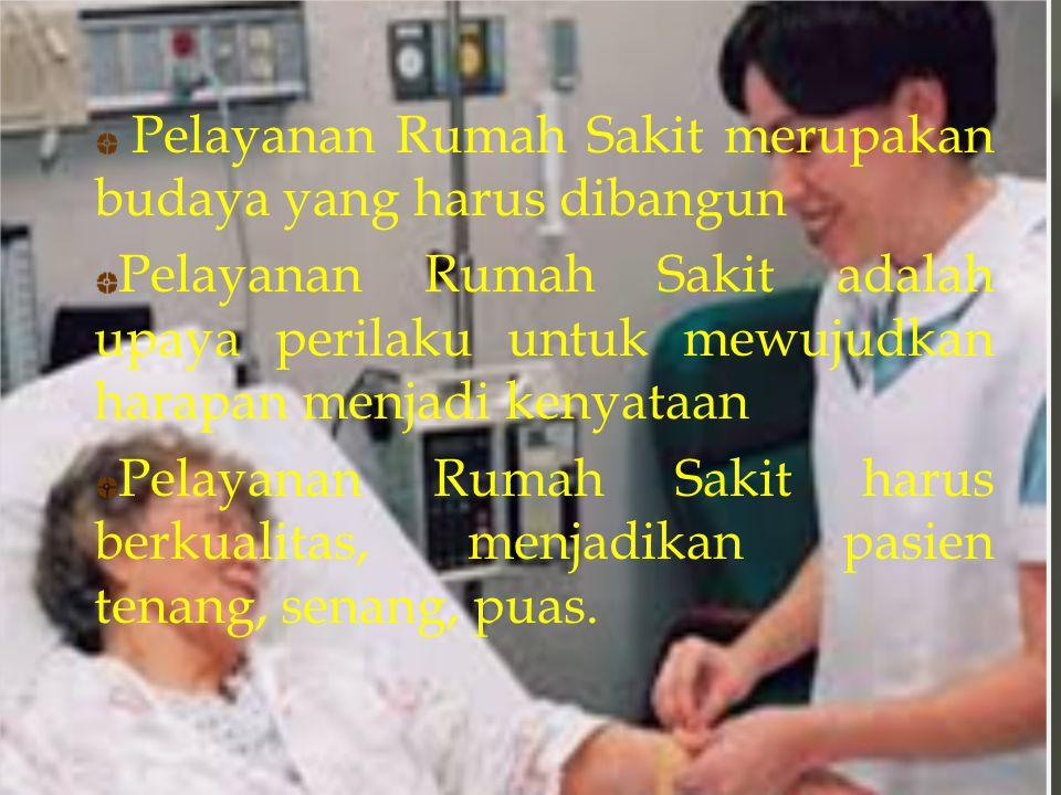 Pelayanan Rumah Sakit merupakan budaya yang harus dibangun