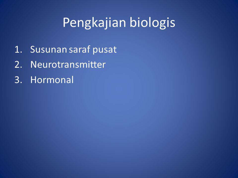 Pengkajian biologis Susunan saraf pusat Neurotransmitter Hormonal