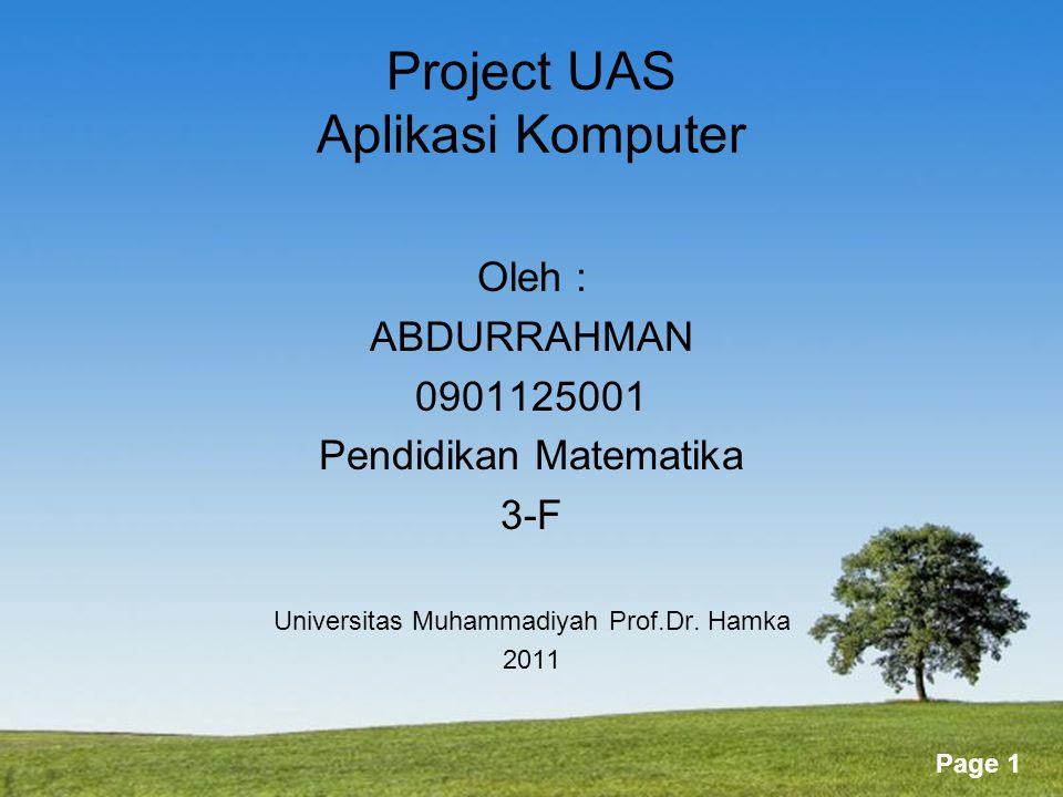 Project UAS Aplikasi Komputer