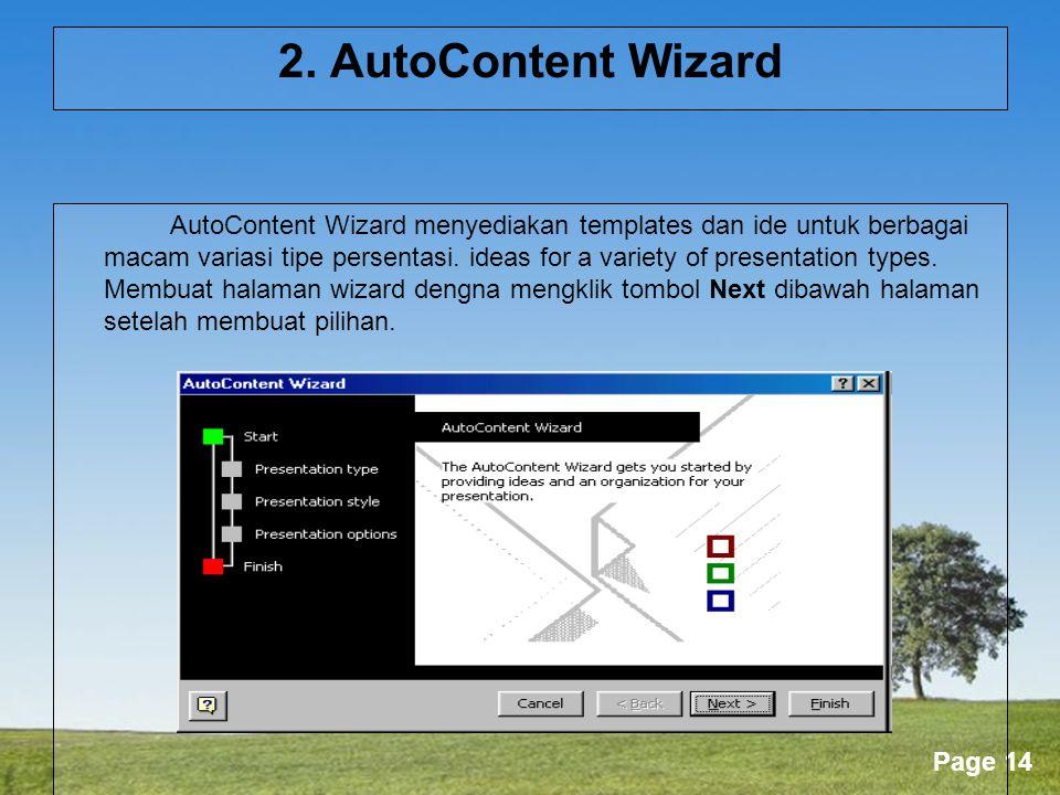 Gambar 4.2. AutoContent Wizard