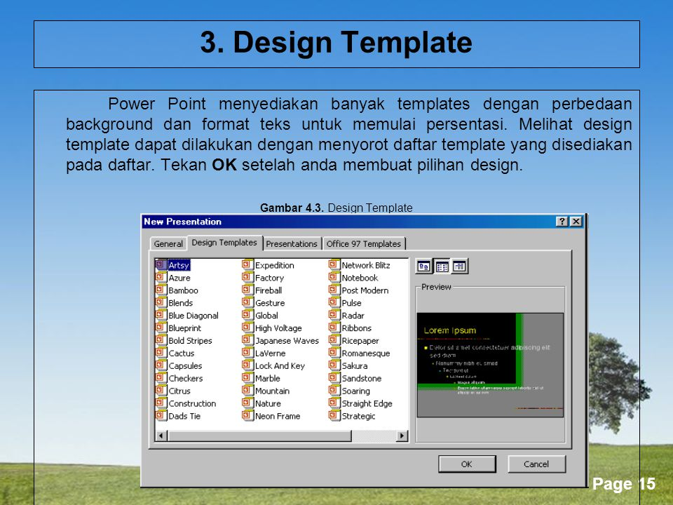Gambar 4.3. Design Template