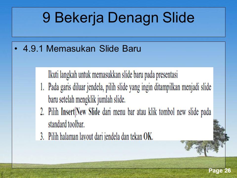 9 Bekerja Denagn Slide 4.9.1 Memasukan Slide Baru