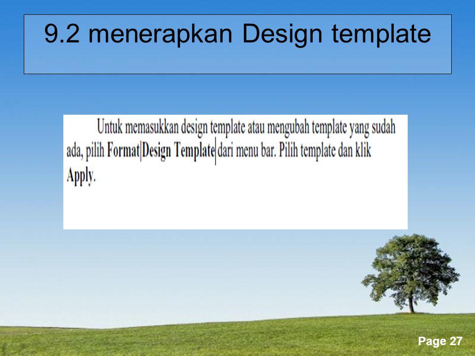 9.2 menerapkan Design template