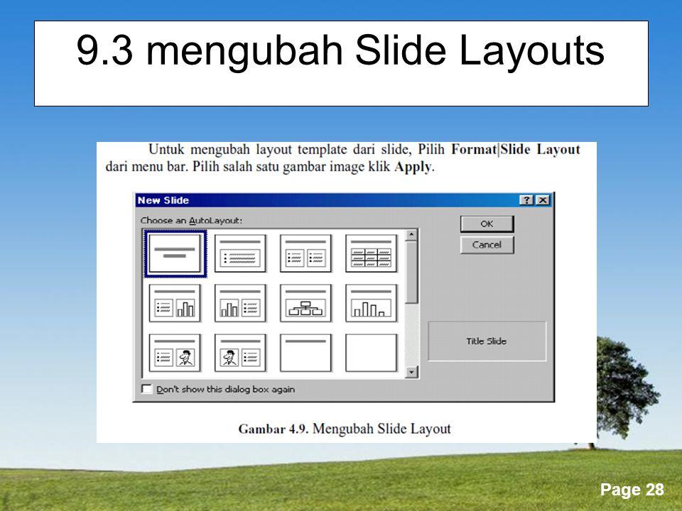 9.3 mengubah Slide Layouts