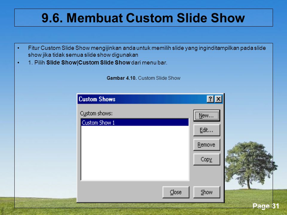 9.6. Membuat Custom Slide Show