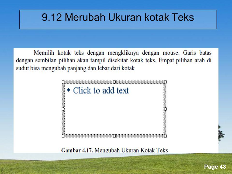 9.12 Merubah Ukuran kotak Teks