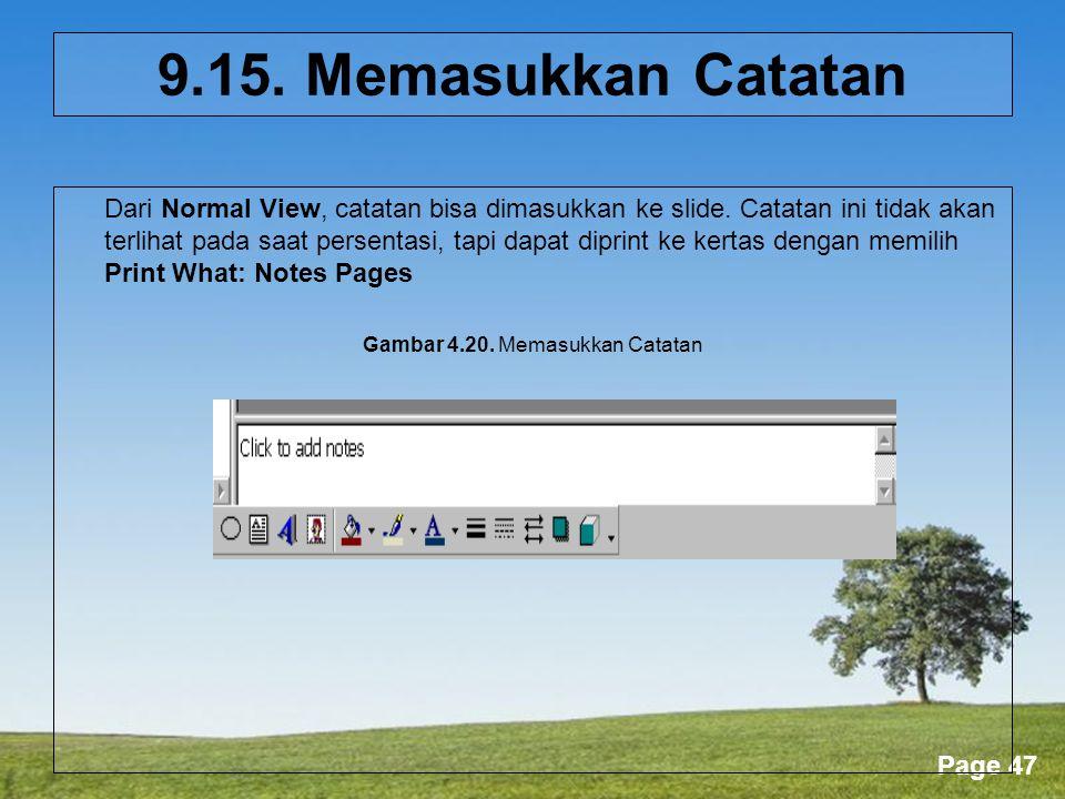 Gambar 4.20. Memasukkan Catatan