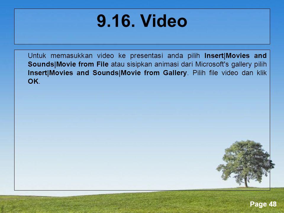 9.16. Video