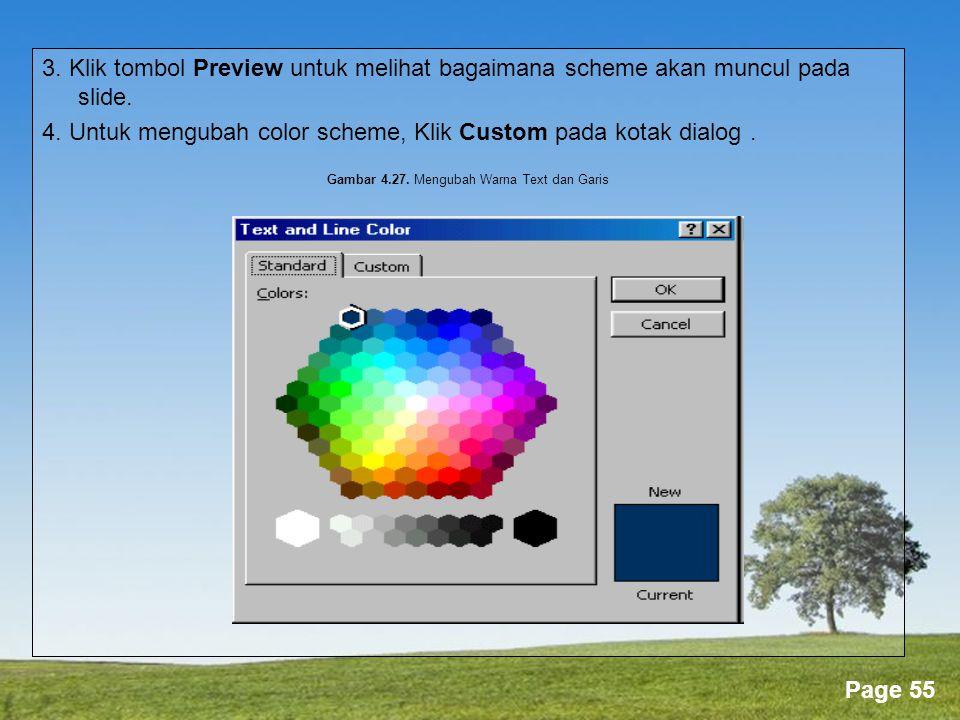 Gambar 4.27. Mengubah Warna Text dan Garis