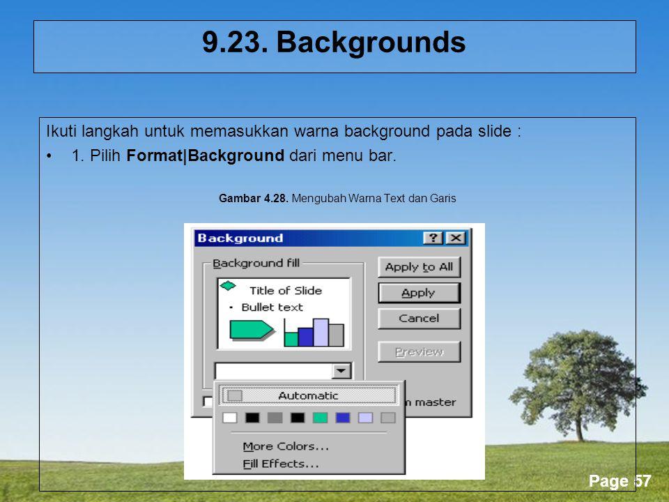 Gambar 4.28. Mengubah Warna Text dan Garis