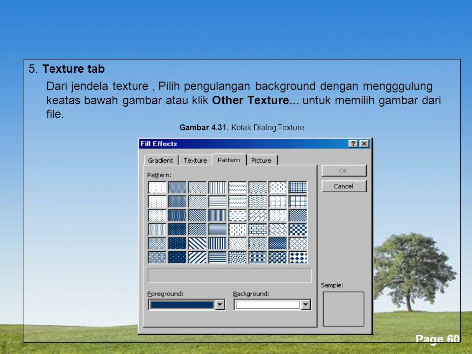 Gambar 4.31. Kotak Dialog Texture