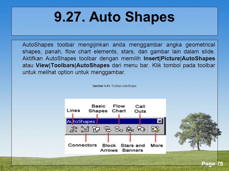 Gambar 4.41. Toolbar AutoShape