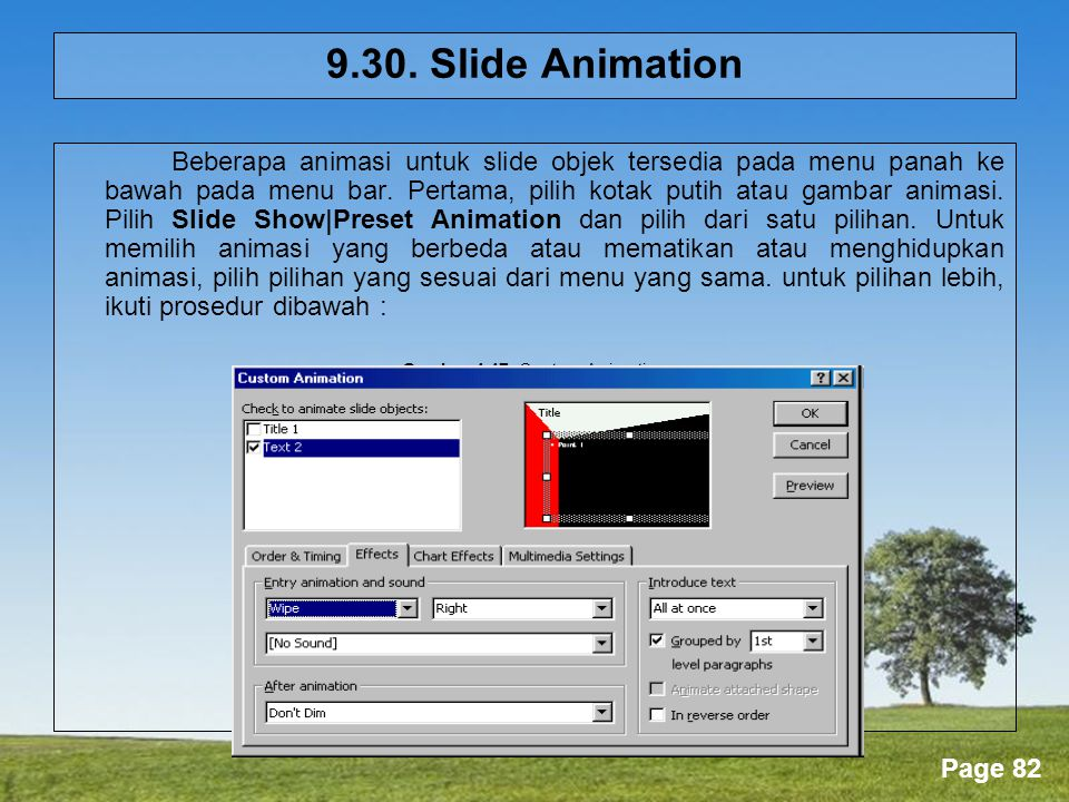Gambar 4.47. Custom Animation