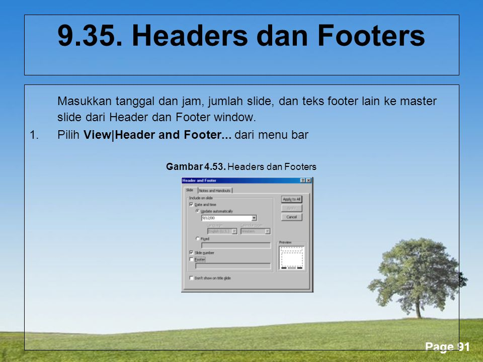 Gambar 4.53. Headers dan Footers