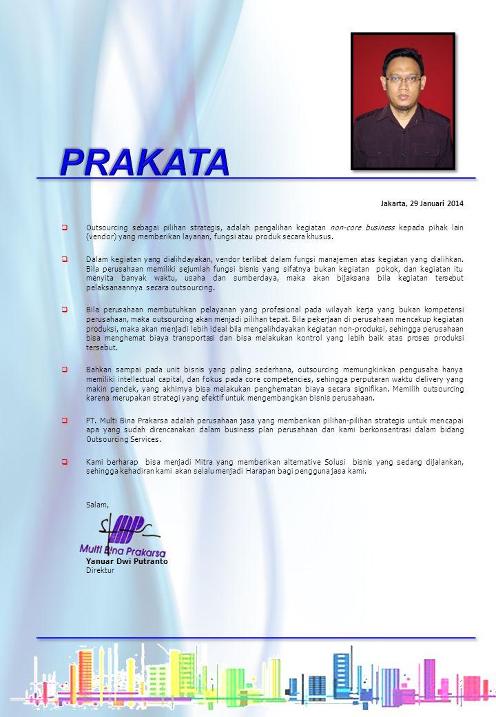 PRAKATA Jakarta, 29 Januari 2014