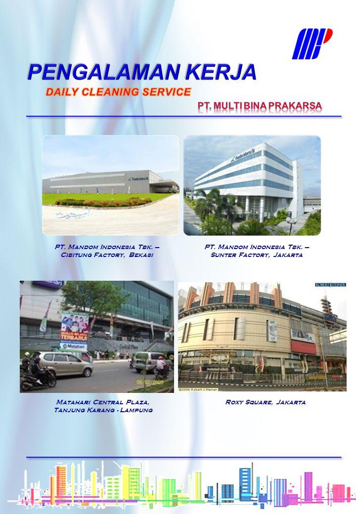 PENGALAMAN KERJA DAILY CLEANING SERVICE PT. MULTI BINA PRAKARSA