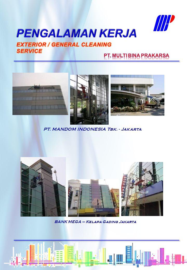 PENGALAMAN KERJA EXTERIOR / GENERAL CLEANING SERVICE