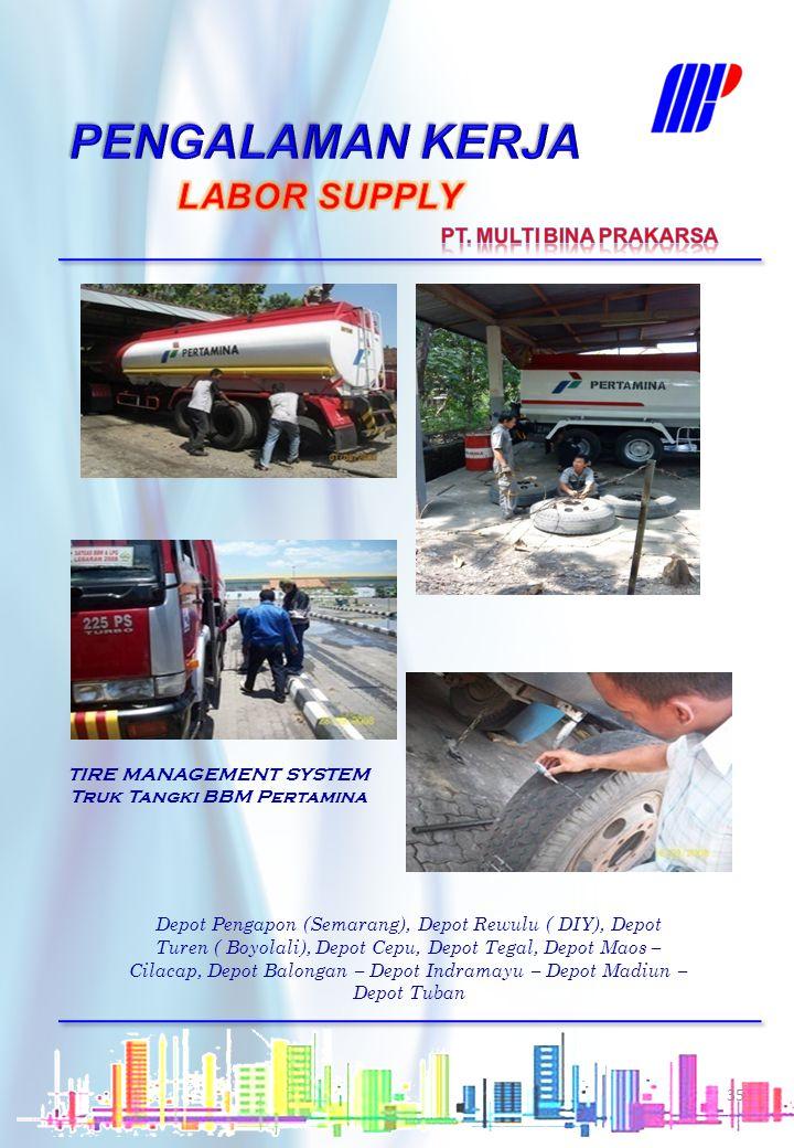 TIRE MANAGEMENT SYSTEM Truk Tangki BBM Pertamina