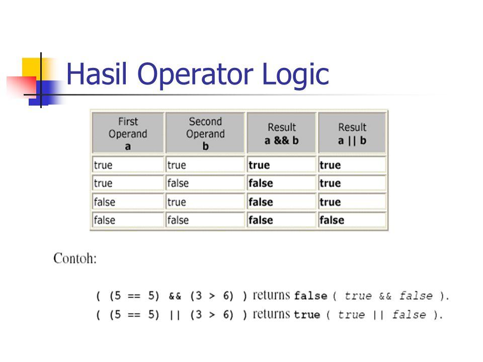 Hasil Operator Logic