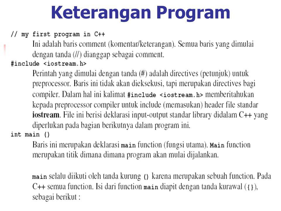 Keterangan Program