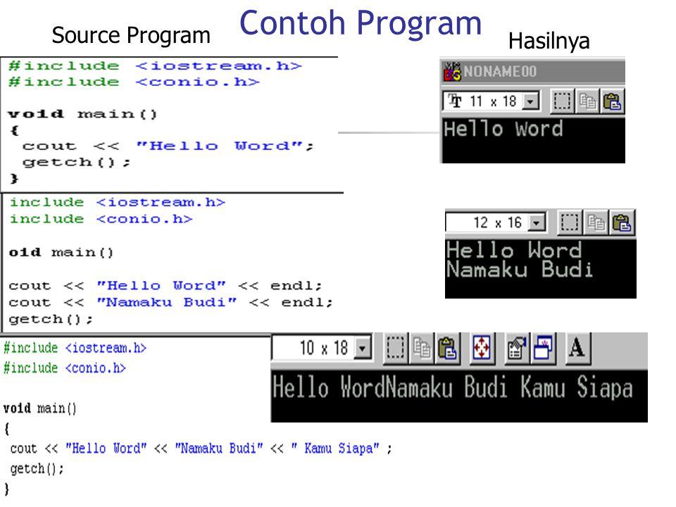Contoh Program Source Program Hasilnya