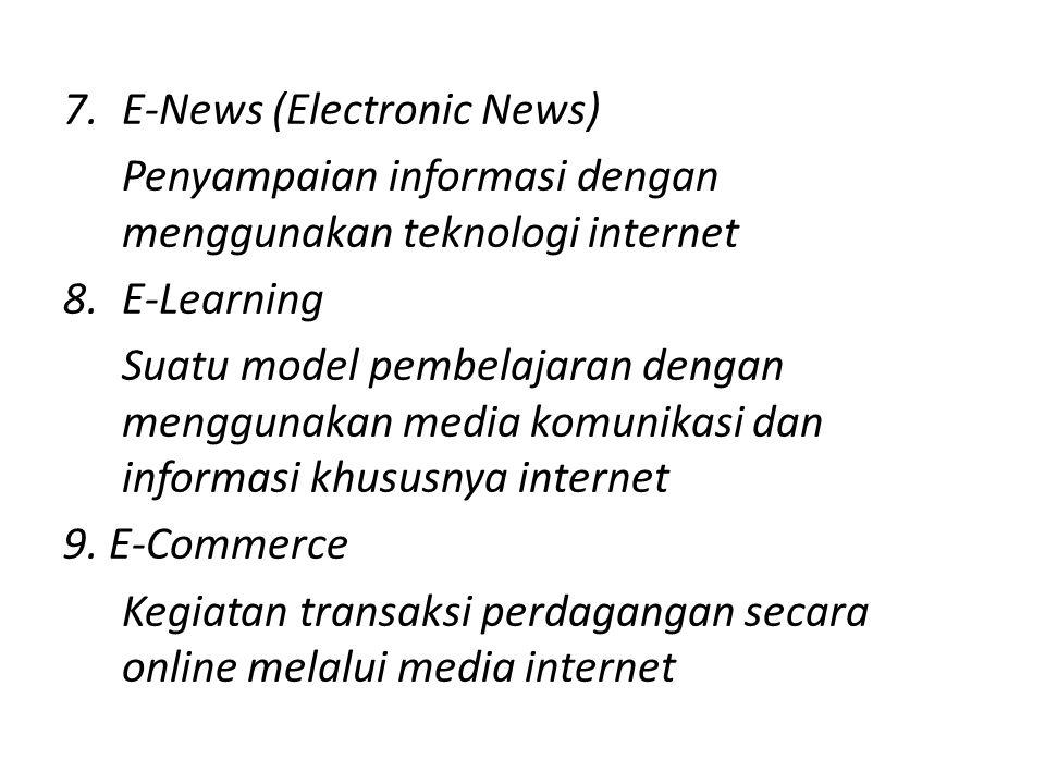 E-News (Electronic News)