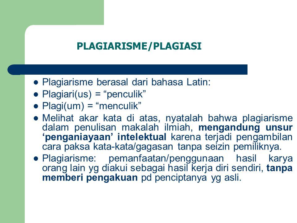 Plagiarisme/plagiasi