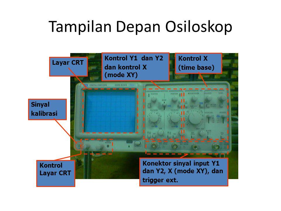 Tampilan Depan Osiloskop
