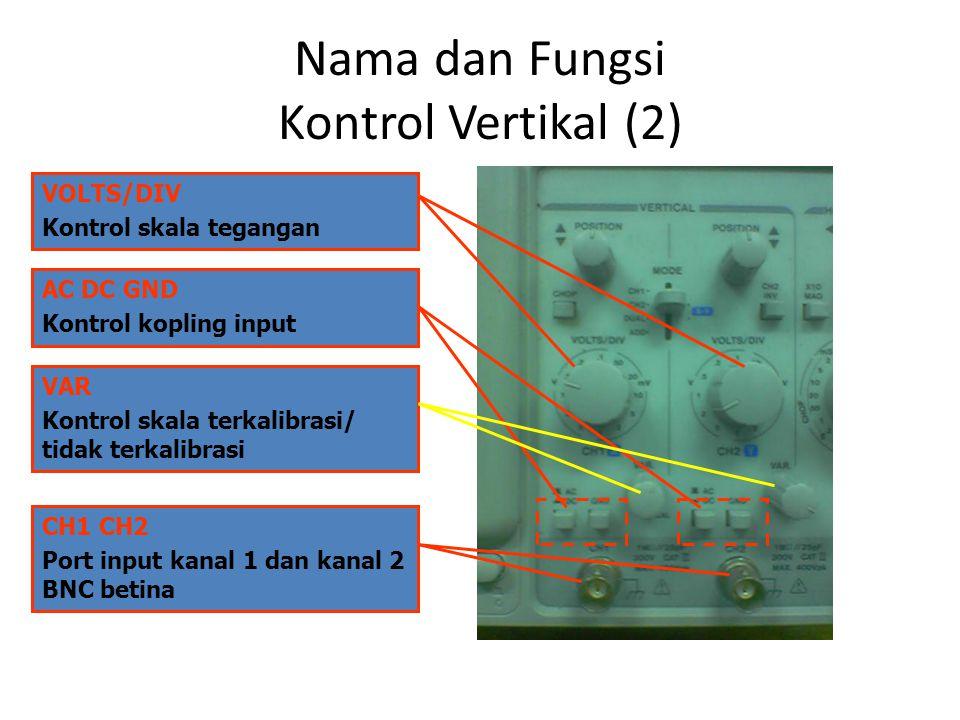 Nama dan Fungsi Kontrol Vertikal (2)