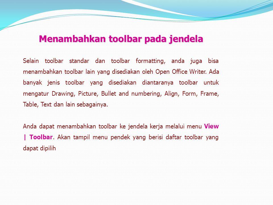 Menambahkan toolbar pada jendela