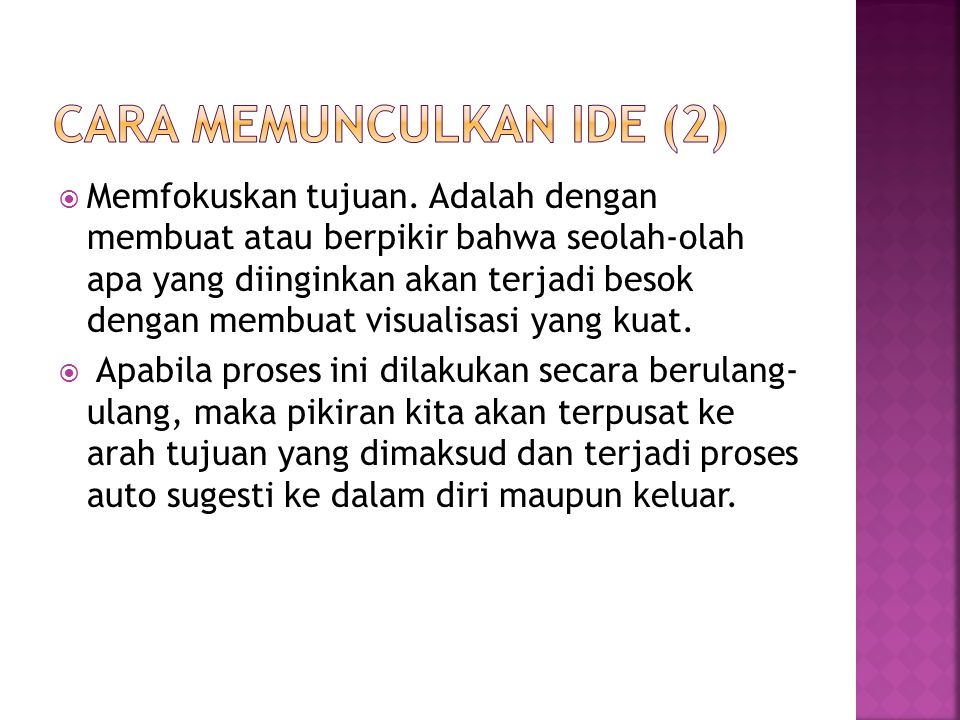 Cara memunculkan ide (2)