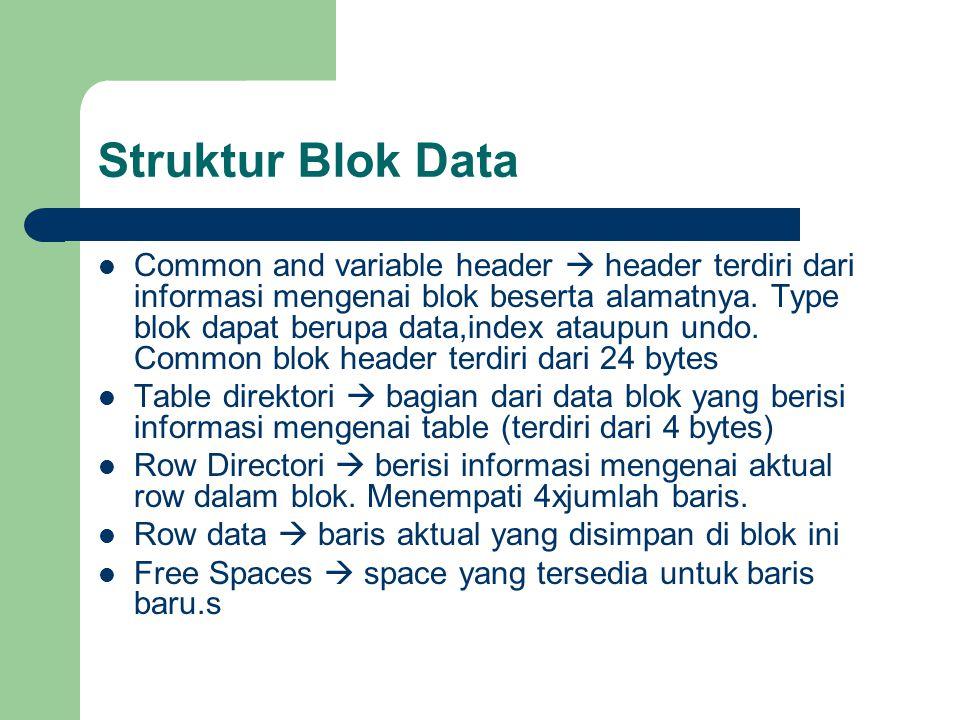 Struktur Blok Data